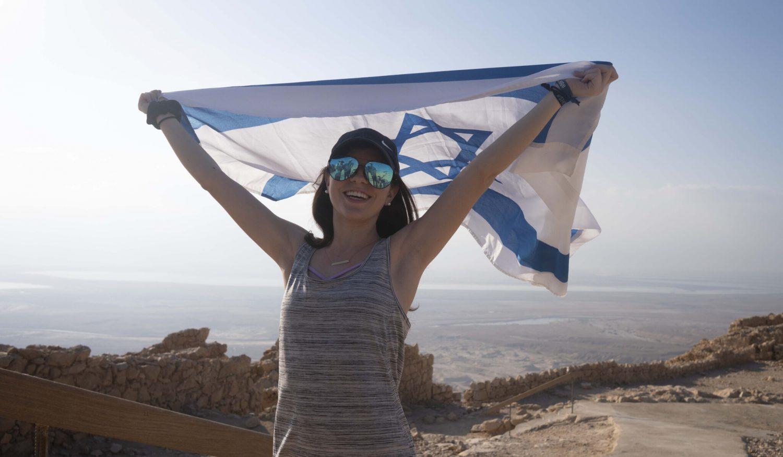 Girl Israeli Flag